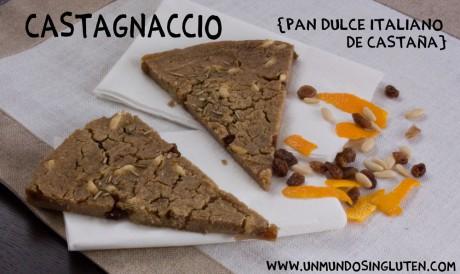 castagnaccio pan dulce de castañas sin gluten