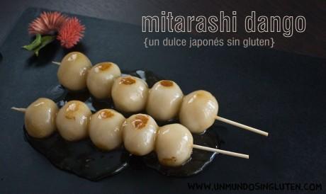 Mitarashi Dango dulce japones sin gluten
