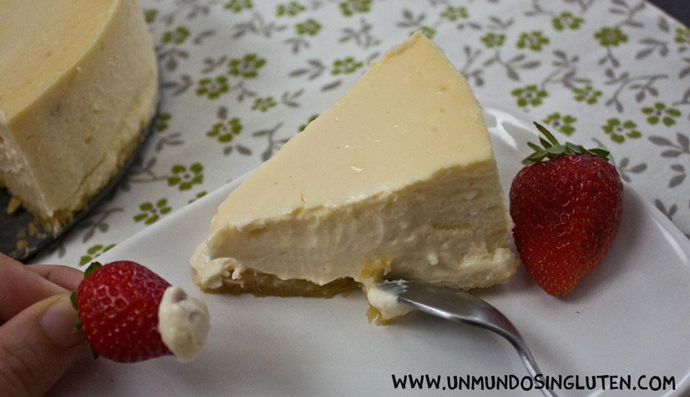 La tarta de queso sin gluten más cremosa
