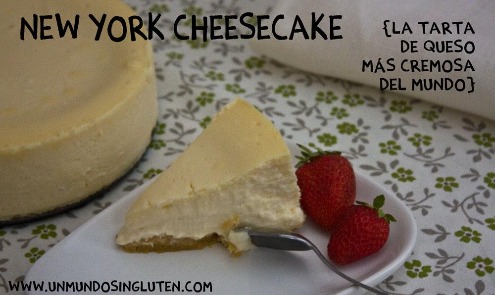 New York Cheesecake (la tarta de queso sin gluten más cremosa del mundo)